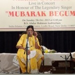 An evening with Mubarak Begum