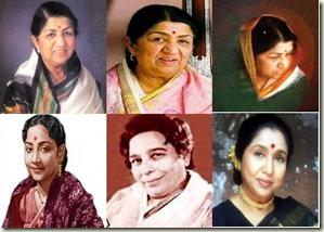 Lata Mangeshkar_Geeta Dutt_Shamshad Begum_Asha Bhosle