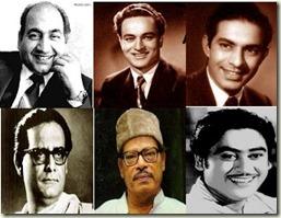 Rafi_Mukesh_Talat Mahmood_Hemant Kumar_Manna Dey_Kishore Kumar