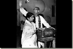 SD Burman and Lata Mangeshkar