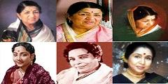 Lata Mangeshkar, Geeta Dutt, Shamshad Begum, Asha Bhosle
