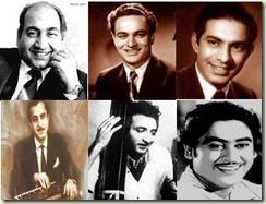 Rafi_Mukesh_Talat Mahmood_CH Atma_GM Durrani_Kishore Kumar