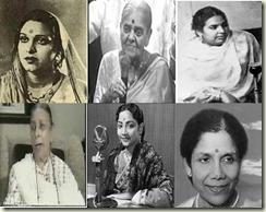 Amirbai Karnataki-Rajkumari-Zeenat Begum-Shamshad Begum-Geeta Dutt-Sandhya Mukherjee