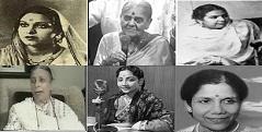 Amirbai Karnataki, Rajkumari, Zeenat Begum, Shamshad Begum, Geeta Dutt, Sandhya Mukherjee