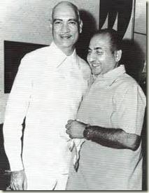 OP Nayyar with Rafi