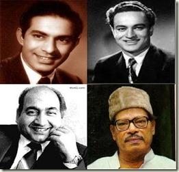 Talat Mahmood-Mukesh-Rafi-Manna Dey