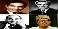 Talat Mahmood, Mukesh, Rafi and Manna Dey