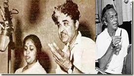 Asha Bhosle with C Ramchandra and Naushad