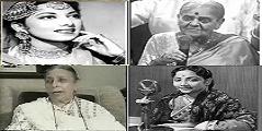 Suraiya, Rajkumari, Shamshad Begum, Geeta Dutt