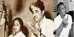 Asha Bhosle with C Ramchandra and Naushad