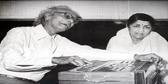Naushad and Lata Mangeshkar