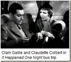 Clark Gable and Claudette Colbert_It Happened One Night_bus trip