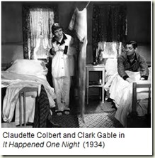 Claudette Colbert and Clark Gable_It Happened One Night