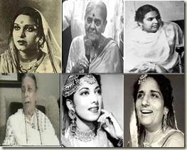 Amirbai Karnataki-Rajkumari-Zeenat Begum-Shamshad Begum-Suraiya-Surinder Kaur