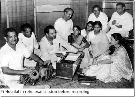 Pt Husnlal in rehearsal session before recording