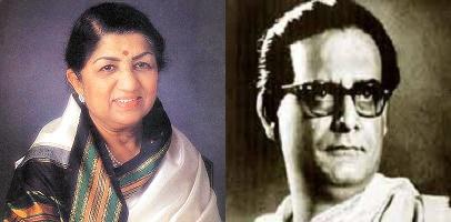 Lata Mangeshkar and Hemant Kumar