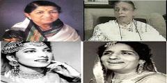 Lata Mangeshkar-Shamshad Begum-Suraiya-Surinder Kaur