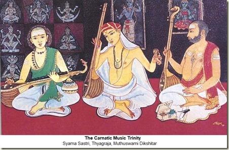 Carnatic Trinity_Painting by S Rajam